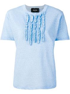 футболка с фактурным нагрудником Dsquared2