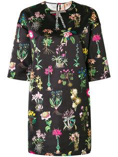 платье шифт с цветочным принтом Nº21