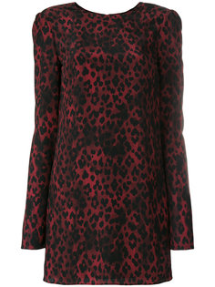 мини-платье с леопардовым принтом Saint Laurent