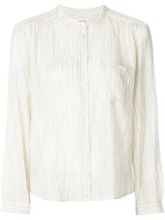 блузка в полоску без воротника  Masscob