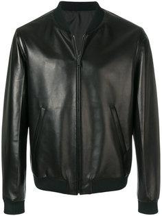 куртка-бомбер из искусственной кожи Prada