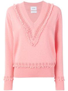текстурированный свитер с V-образным вырезом Barrie