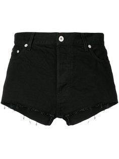 джинсовые шорты с бахромой Heron Preston