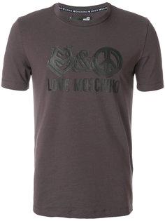 футболка с графическим принтом Love Moschino