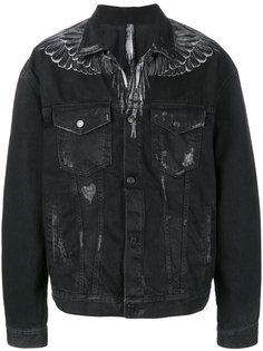 джинсовая куртка с принтом Marcelo Burlon County Of Milan