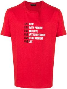 футболка с принтом слогана Neil Barrett