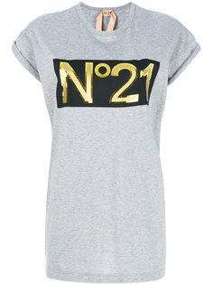 длинная футболка с логотипом  Nº21