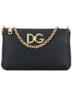 клатч с логотипом на цепочке Dolce & Gabbana