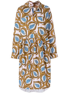оверсайз-платье с принтом металлик Marni