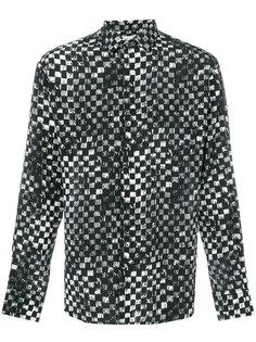 рубашка с принтом в клетку Saint Laurent