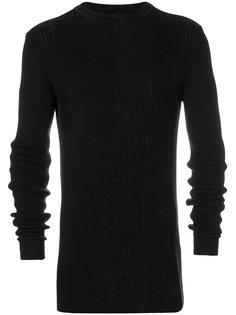 трикотажный свитер в рубчик Rick Owens