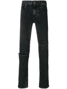 джинсы прямого кроя с рваной отделкой Saint Laurent