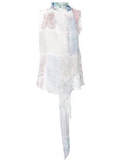 блузка без рукавов лоскутного кроя  Chloé
