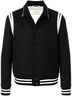 куртка-бомбер с заклепками на воротнике Valentino