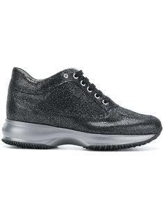 кроссовки с эффектом металлик Hogan
