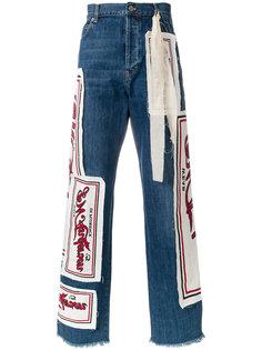 джинсы лоскутного кроя JW Anderson