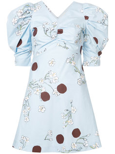 floral and polka dot print dress Isa Arfen