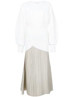 расклешенное платье-миди с контрастным дизайном  Esteban Cortazar
