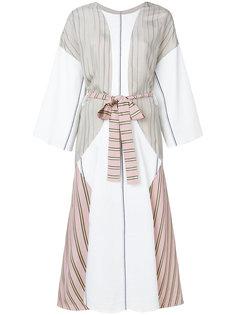 платье-миди с контрастным ремнем Esteban Cortazar