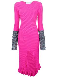 платье-миди с контрастными манжетами Esteban Cortazar