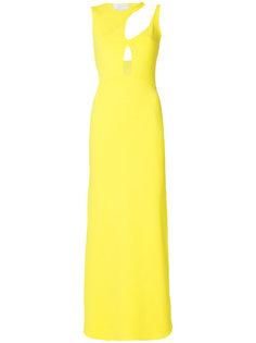 длинное платье с вырезной деталью Esteban Cortazar