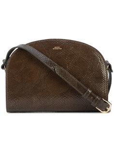 сумка на плечо с эффектом крокодиловой кожи A.P.C.