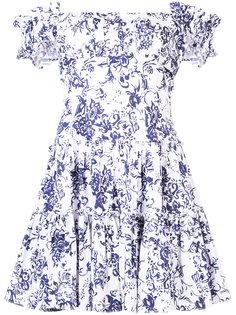 floral print flared dress Caroline Constas