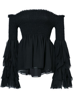 flared bardot blouse  Caroline Constas