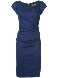 v-neck fitted dress Nicole Miller