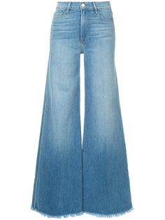 джинсы Le Palazzo с необработанными краями Frame Denim