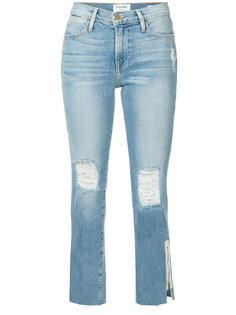 джинсы Le High с необработанными краями Frame Denim