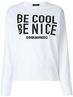 футболка с принтом Be Cool Be Nice Dsquared2