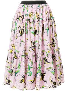 пышная юбка с цветочным принтом  Fausto Puglisi