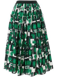 пышная юбка с тропическим принтом  Fausto Puglisi