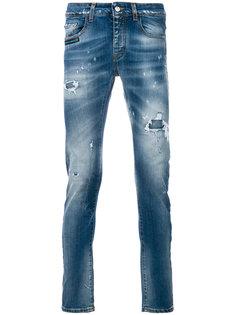 джинсы узкого кроя с эффектом потертости Frankie Morello