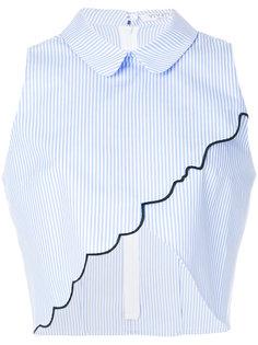 укороченная асимметричная рубашка Vivetta