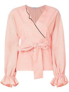 блузка в полоску с запахом Vivetta
