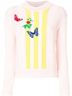 свитер с вышивкой бабочек Vivetta