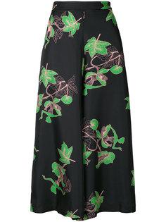 расклешенные брюки с растительным принтом Vivetta