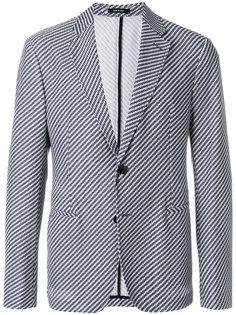 пиджак с плетеным дизайном Giorgio Armani