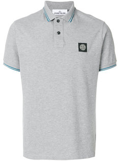 рубашка-поло с полосатой отделкой Stone Island