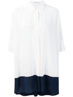 свободная рубашка дизайна колор-блок Agnona