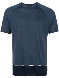 футболка дизайна колор-блок Prada