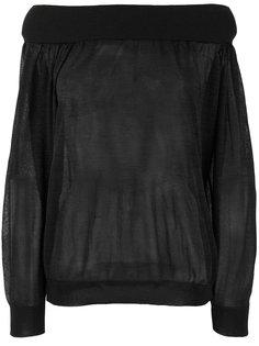 полупрозрачный свитер с открытыми плечами  Zanone