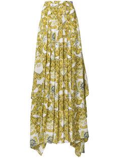 """плиссированная юбка-макси с рисунком в стиле """"барокко"""" Versace"""