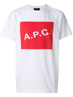 футболка с принтом логотипа A.P.C.