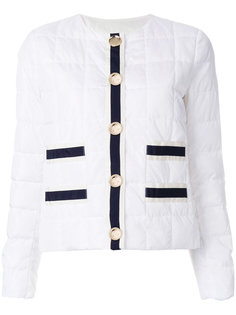 stripe panelled quilted jacket Fay