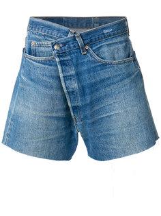 шорты с высокой талией и необработанными краями R13