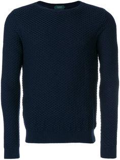 свитер вафельной вязки Zanone