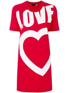 платье-футболка с логотипом  Love Moschino